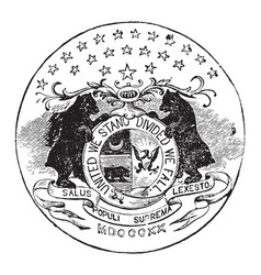 Official seal us state missouri in vector