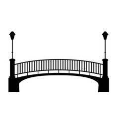 Park bridge vector