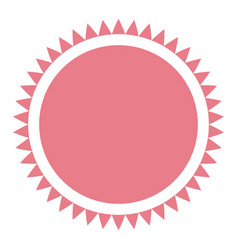 Pink label emblem decoration frame circular vector