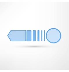 pure white arrow vector image
