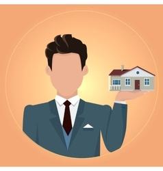 Real Estate Concept in Flat Design vector