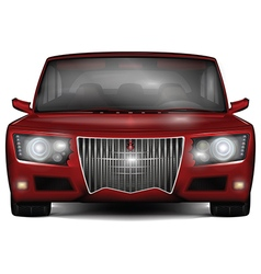 Red concept car No trademark vector