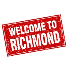 Richmond red square grunge welcome to stamp vector