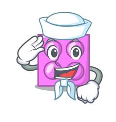 Sailor toy brick character cartoon vector