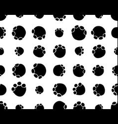 seamless footprints elephants vector image