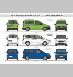 Set passenger mini vans swb l1 2018 vector