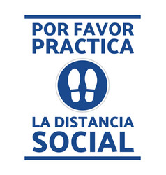 social distancing sign covid-19 prevention vector image
