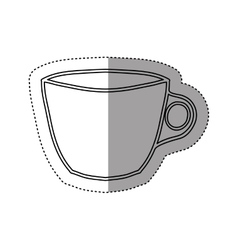 sticker silhouette porcelain cup utensil kitchen vector image