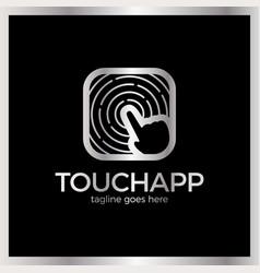 Touch app logo vector