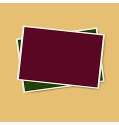 Two photo frames isolated vector