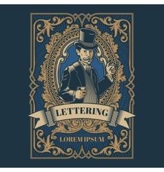 Vintage gentleman emblem signage vector image