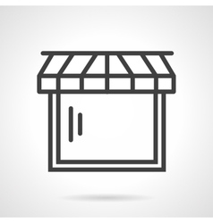 Web store black line icon vector