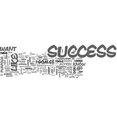 what does success look like to you text word vector image