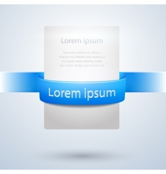 White Paper Banner with Blue Ribbon Design vector