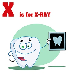 Xray cartoon with letter vector