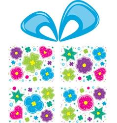 Present flowers vector