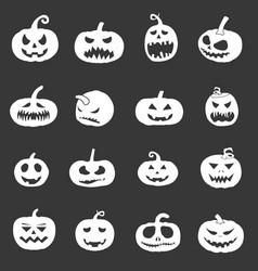 pumpkin icons set for halloween vector image