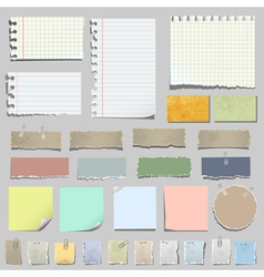 set of various notes paper vector image