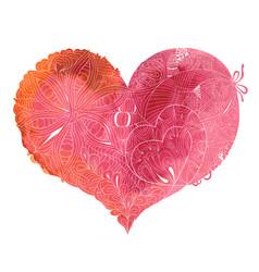 sketchy doodle heart vector image vector image