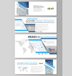 social media and email headers modern banners vector image vector image