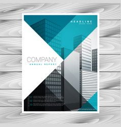 blue business brochure template for your company vector image