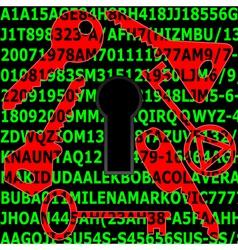 Password security vector image vector image