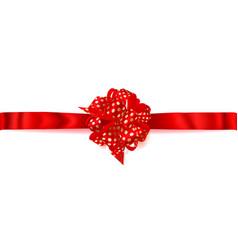 big horizontal bow made of ribbon in polka dots vector image