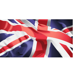 british flag waving vector image vector image