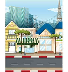 Business area in the city vector image