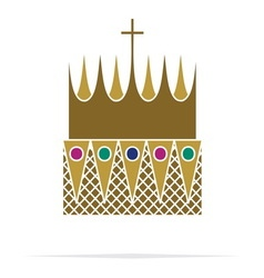 Crown icon1 resize vector image vector image