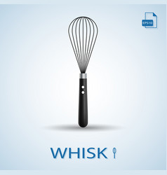 kitchen tools whisk isolated on a background vector image vector image