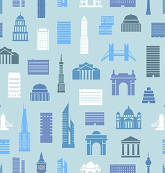 Modern city silhouettes seamless pattern vector
