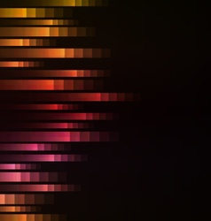 red abstract pixel speed from side background vector image