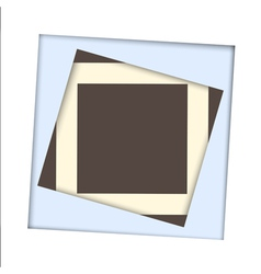 White paper square and frame background vector image