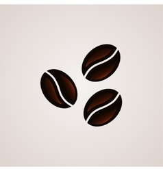 Coffee beans signs logo template vector image