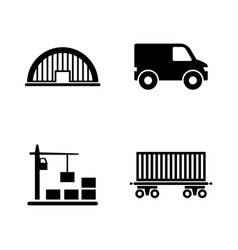 Express delivery simple related icons vector
