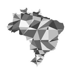 Geometric polygonal style map of Brazil vector image