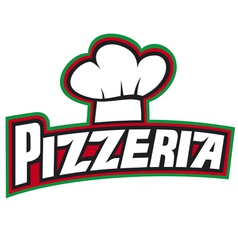 pizzeria label design vector image vector image