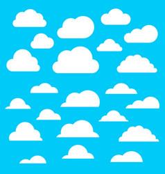 set a cloud2 vector image
