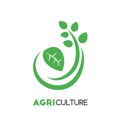 agriculture business logo template with green vector image