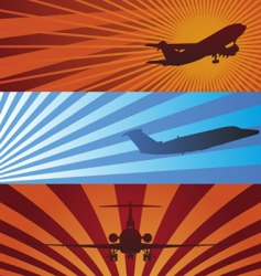 airplane banners vector image