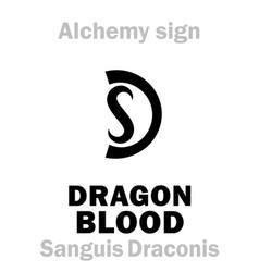 Alchemy dragons blood sanguis draconis vector