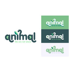 animal logo vector image