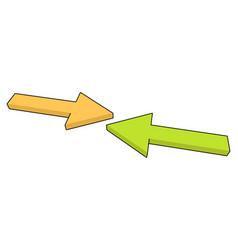 arrow reflect vector image