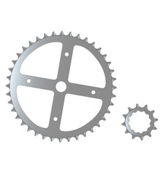 Bicycle cogs vector