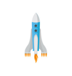 big space rocket isolated on white background vector image