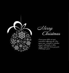 Black and white christmas card vector