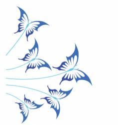 Blue butterflies vector