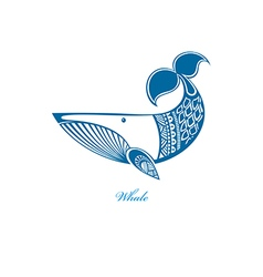 Blue whale vector