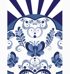 Blue white floral background vector